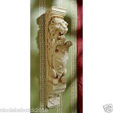 Set of 2: Medieval Heraldic Lion Corbel Replica Wall Sculpture Gothic Strength