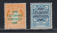 Ireland Sc 118-119 MNH. 1941 Revolution of 1916 commemorative overprints cplt