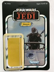 KENNER 1983 WEEQUAY RESTORATION KIT ACTION FIGURE DISPLAY 65 BACK COLLECTION
