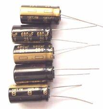 680uf 25v 105c baja ESR tamaño 20mmx10mm Panasonic EEUFM 1E681 x5 un.