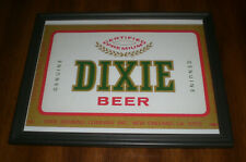 Dixie Beer Framed Color Ad Print - New Orleans, La.