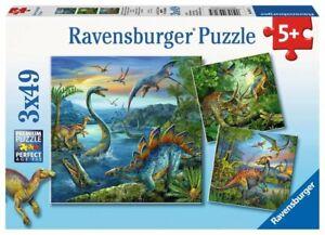 Ravensburger Dinosaur Fascination 3 x 49 pc Jigsaw Puzzle 5+