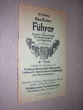 SMALL GERMAN POCKET GUIDE BOOK, FREIBURG etc. circa 1915. DELICATE
