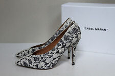 New sz 9.5 / 40  ISABEL MARANT Prissy Snakeskin Point Toe Classic Pump Shoes