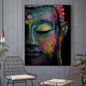 Wall Art Canvas Home Decoration Buddha Face Art For Living Bedroom Modern Canvas