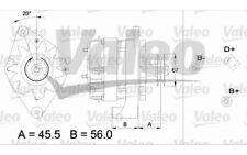 VALEO Alternador para RENAULT CLIO SUPER 5 21 19 EXPRESS 11 9 433442