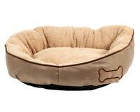Karlie Bett Chipz, rund Hunde Betten 52 cm beige