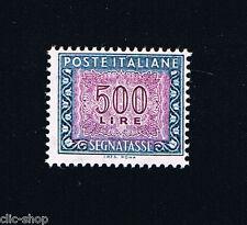 ITALIA 1 FRANCOBOLLO SEGNATASSE 500 LIRE 1992 nuovo** (BI4675)