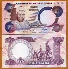 Nigeria, 5 naira, 2002, P-24 (24g), Large Size Issue, UNC > Tribal Drummers