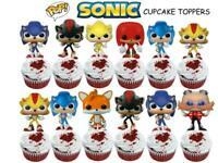 SONIC BOOM cupcake toppers birthday party favor pinata cake paper HEDGEHOG