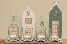 Deko-Windlichter im Weihnachts-Stil mit Haus