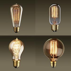 Vintage Light Bulb Retro Edison Style E27 E14 Screw 40W 60W LED Light UK