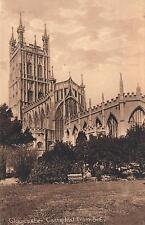 EARLY 1900's VINTAGE GLOUCESTER CATHEDRAL from SE POSTCARD - COMMISSIONED in 678
