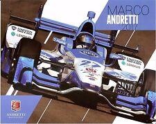 2017 MARCO ANDRETTI INDIANAPOLIS 500 HERO PHOTO CARD POSTCARD INDY CAR UFD HONDA