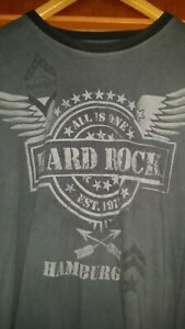Hard Rock Cafe Hamburg T-Shirt, Farbe: Grau, Größe: XXL