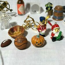 Lot/32 Vtg Odd Mix of Miniatures Collection Treasures Junk Drawer Minis Ornament
