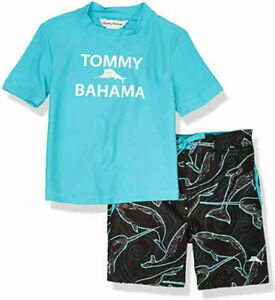 Tommy Bahama Boys' Rashguard and Trunks Swimsuit Set - Size 4