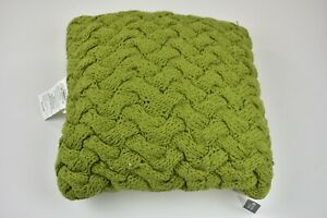 """Threshold Chunky Knit Square Throw Pillow 18""""×18"""" Green - NWT - Free Shipping"""