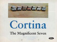 Ford Cortina Mk2 1968-69 UK Market Foldout Brochure De Luxe Super GT 1600E Lotus