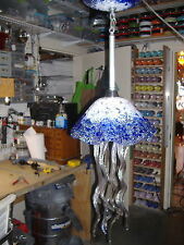 Hand Blown Glass Chandelier - Jellyfish Light - Jellyfish Chandelier - Cobalt
