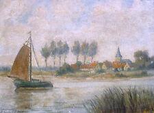 Franz Schrudde 1886-1972 Eslohe / Gemälde / Dorf am Niederrhein / Sauerland