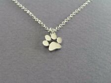 FREE GIFT BAG Silver Plated Dog Cat Paw Print Necklace Chain Costume Jewellery