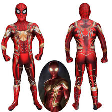 Spider-Man Iron Spider Man Costume Cosplay Bodysuit For Kids Adult