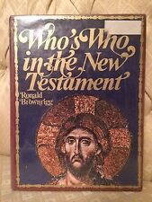 Who's Who in the New Testament by Ronald Brownrigg (1971, Book, Illustrated)
