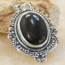 Gallant Black onyx gemstone silver pendant Jewelry BP71