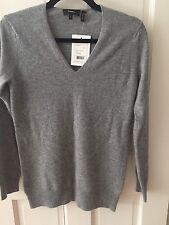 Nwt Theory Wynn Cashmere Sweater P XS 0 Grey $245