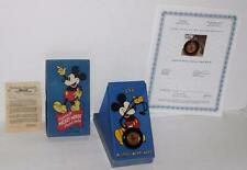 "Ex!Disney1938""Mickey Mouse Pocket Watch""-Ingersoll-Det ail Service+Coa+3 Piece Bx"