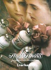 Publicité ancienne Parfum Anaïs Anaïs Cacharel  non parfumé