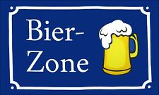 Fahne Flagge - Bier Zone - 90 x 150 cm, mit 2 Ösen
