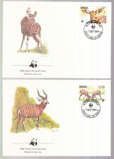 Ghana 1984 FDC MiNr. 1060.-1063  Bongo  WWF