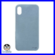 POWER SUPPORT Ultrasuede Air Jacket protection suede like case iPhone X Sky Blue