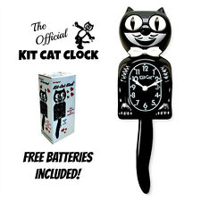 "CLASSIC BLACK KIT CAT CLOCK 15.5"" Free Battery USA MADE Official Kit-Cat Klock"