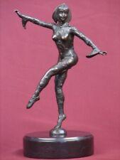 BRONZE STATUE EXOTIC DANCER ART DECO HIGHLY DETAILED HANDCRAFTED SCULPTURE