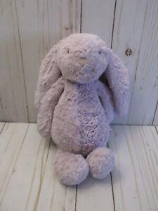 "Jellycat Bashful Bunny Rabbit Plush Purple Lilac Lavender Medium 12"" CLEAN"