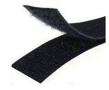 10 METRI Velcro strappo da cucire da 2 cm completo maschio+femmina nero