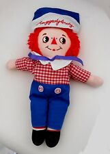 """Vintage 1990's applaudissements Jouets-Raggedy Andy-Ann - 12 """"plush toy (A1)"""