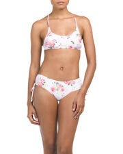 CIKADA Printed Two-piece Swimsuit/Bouquet Rose Floral/Pink/Size 10/NWT