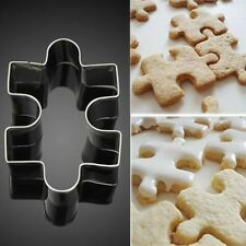 1x Chic Stainless Steel Cake Cookie Puzzle Shape Cookie Cutter Mold Cookie Tools