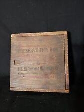 Antique Wooden Box Miller Printing