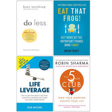 Do Less,Eat That Frog,Life Leverage,The 5 AM Club 4 Books Collection Set NEW