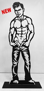 BOYS WILL BE BOYS 23inch Male Nude Steel Sculpture by Wim Griffith gay art