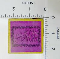 Wood Block Rubber Stamp: It's A Shower