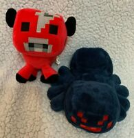 """Mojang Spider & Red Bull Minecraft Soft Toy 6-8"""""""