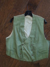 RAY COLLINS DOUBLE BREASTED VEST WORN IN UNK FILM WESTERN COSTUME GOLD LABEL
