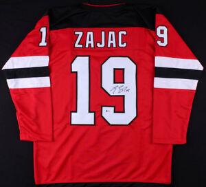 Travis Zajac Signed Devils Jersey (Beckett COA) Veteran New Jersey Center
