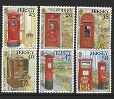 jersey 2002 Postal Histoire Lettre boîtes Lot de 6 monté excellent état